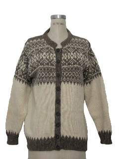 1970's Womens Nordic Snowflake Sweater