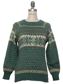 1980's Womens Nordic Snowflake Sweater