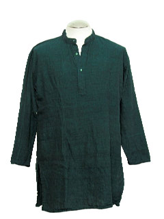 1980's Mens Hippie Oversized Tunic Shirt