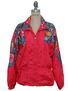 1980's Womens Totally 80s Golden Girls Style Windbreaker Jacket
