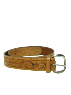 1980's Mens Accessories - Leather Western Hippie Belt
