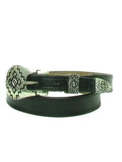 1980's Womens Accessories - Skinny Leather Western Belt