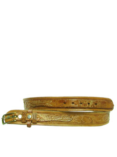 1970's Mens Accessories - Leather Western Hippie Belt
