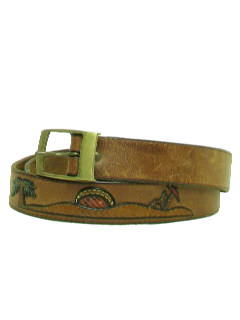1970's Mens Accessories - Leather Hippie Belt