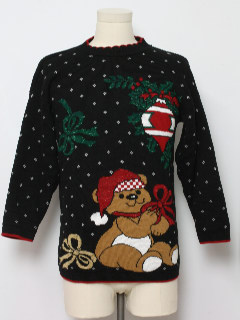1980's Unisex Vintage Bear-riffic Ugly Christmas Sweater