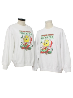 1980's Unisex Ugly Christmas Matching Set of Sweatshirts