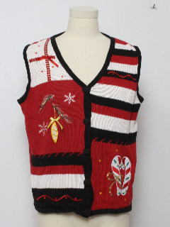 1980's Womans Ugly Christmas Sweater Vest
