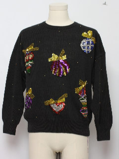 1980's Unisex Ugly Christmas Cocktail Sweater
