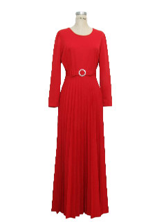 1970's Womens Maxi Cocktail Knit Dress