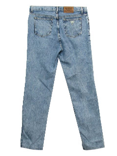 1990's Mens Designer Wicked 90s Acid Wash Skinny Jeans Pants