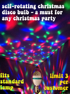 1990's Unisex Accessories - Christmas Party Lightup Rotating Disco Red and Green and Blue Lighbulb (the modern equivalent of the Christmas Color Wheel!)
