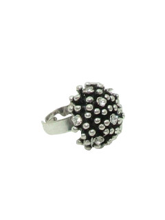 1970's Womens Accessories Jewelry - Mod Silver Ring
