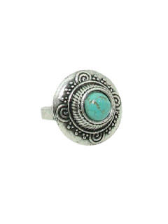 1970's Unisex Accessories Jewelry - Silver Hippie Ring
