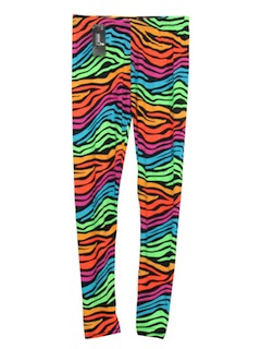 1980's Unisex New Wave Glam Rock Totally 80s Look Skinny Legging Style Pants