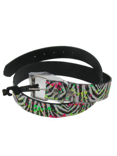 1980's Unisex Accessories - Totally 80s Look Belt