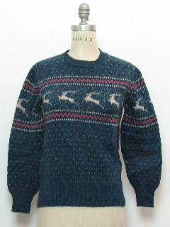 1980's Womens Reindeer Ski Sweater