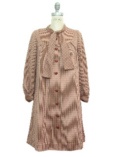 1970's Womens Frumpy Knit Dress