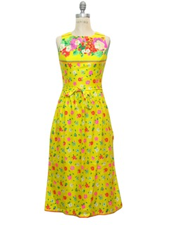 1970's Womens Mod Sun Dress