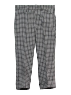 1970's Mens Plaid High Water Leisure Pants