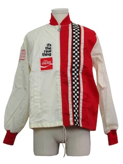 1960's Mens Mod Coca Cola Racing Jacket