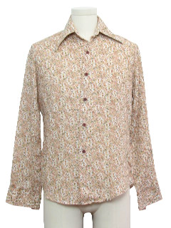 1970's Mens Disney Print Disco Style Coton Blend Kennington Shirt