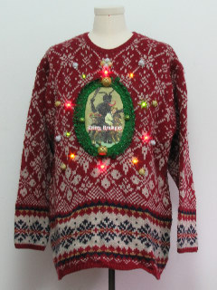 1980's Unisex Krampus Multicolor Lightup Ugly Christmas Sweater