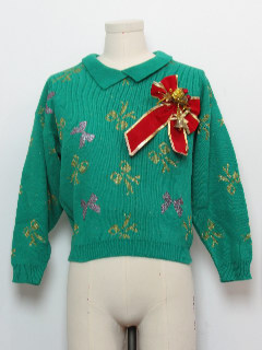 1980's Womens Hand Embellished Ugly Christmas Sweater