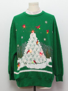 1980's Unisex Multicolor Lightup Ugly Christmas Vintage Sweatshirt