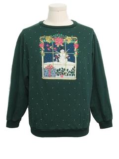 1980's Unisex Cat-Tastic Ugly Christmas Vintage Sweatshirt