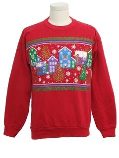 1980's Unisex Ugly Christmas Vintage Sweatshirt