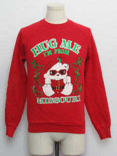 1980's Unisex Ladies or Boys Ugly Christmas Vintage Sweatshirt