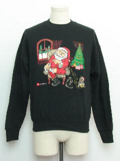 1980's Unisex Haliburton Ugly Christmas Vintage Sweatshirt