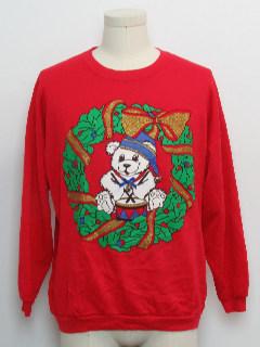 1980's Unisex Bear-riffic Ugly Christmas Vintage Sweatshirt