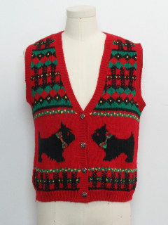 1980's Womens Dog-Gonnit Ugly Christmas Sweater Vest