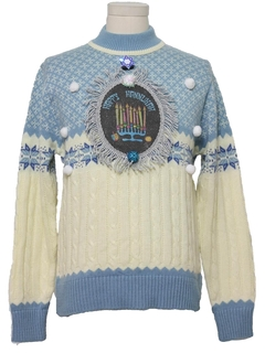 1980's Unisex Hanukkah Ugly Christmas Sweater