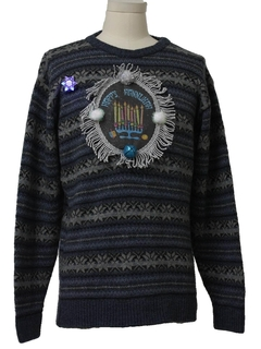1980's Mens Hanukkah Ugly Christmas Sweater