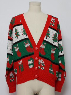 1980's Unisex Ugly Christmas Vintage Cardigan Sweater