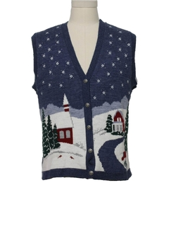 1980's Unisex Ugly Christmas Vintage Sweater Vest