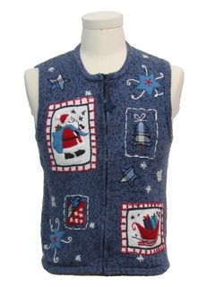 1980's Unisex Girls or Boys Ugly Christmas Sweater Vest