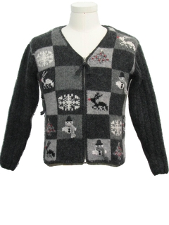 1980's Unisex Girls or Boys Ugly Christmas Cardigan Sweater