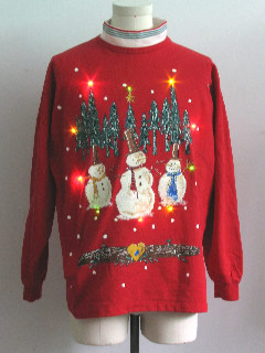 1990's Unisex Multicolor Lightup Ugly Christmas Sweatshirt