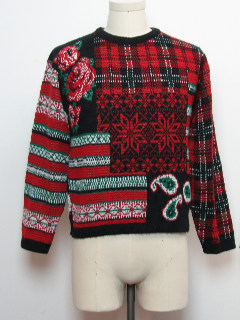 1980's Womens Ugly Christmas Vintage Sweater