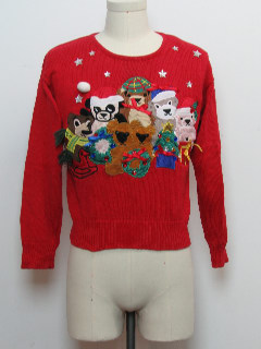 1980's Womens Bearrific Ugly Christmas Sweater