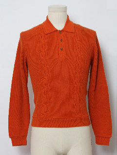 1960's Mens or Boys Mod Knit Sweater Shirt