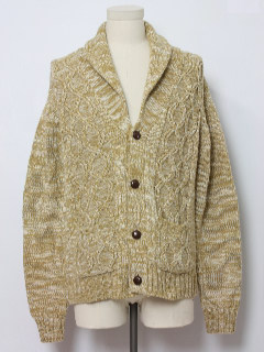 1970's Mens Fisherman Cardigan Sweater