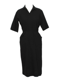 1940's Womens Fab Forties Wool Dress