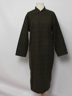 1960's Womens Wool Cheongsam Dress