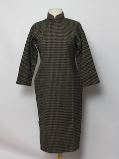 1970's Womens Wool Cheongsam Dress