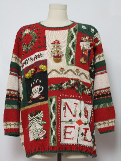 1980's Unisex Hand Embellished Ugly Christmas Sweater