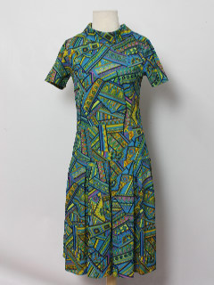 1960's Womens Print Mod Dress